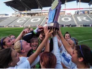 Denver Christian Girls soccer team win 2A championship title