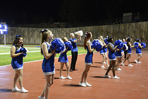 DC Cheer Team get the Denver Christian sports fans ready to cheer at games.