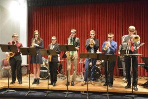 High School fine arts jazz band